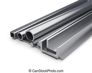 Rolled metal industrial background.
