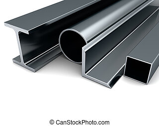 rolled metal production - 3d illustration of rolled metal...