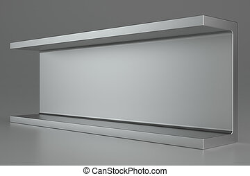 Rolled metal products on gray background. 3d rendering.