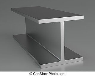 Rolled metal products on gray background. 3d rendering