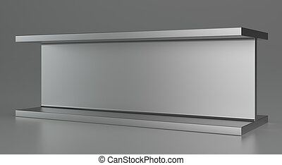 Rolled metal products or steel products. 3d rendering. -...
