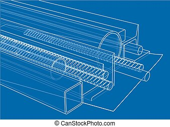 Rolled metal products. Vector