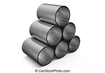 rolled metal, shot  pipes