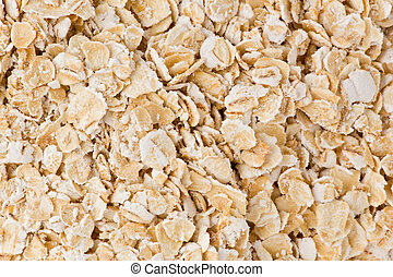Background texture of rolled oats.