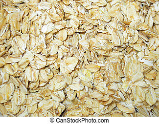 Rolled oats - Closeup of rolled oats