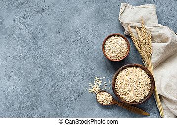 Rolled oats, oat flakes, whole grain oats