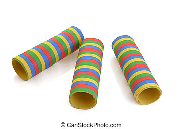 Rolled paper streamer