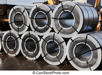 rolled steel - These raw materials for further processing