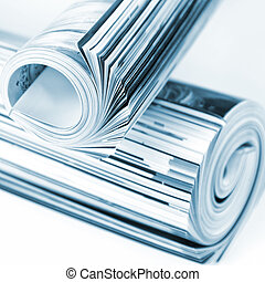 Rolled up magazines. Toned