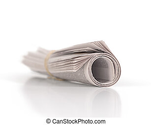 rolled-up nnewspaper