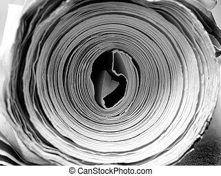 Rolled up Paper - Rolled up paper on desk as drawings or ...