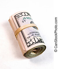 A big wad of cash worth many thousand dollars