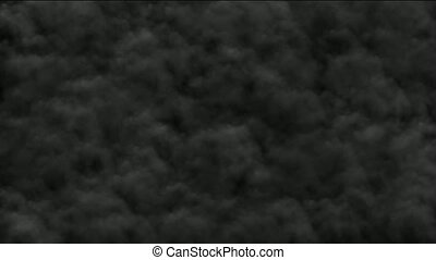 rollen, gas, dunkelheit, rauchwolken