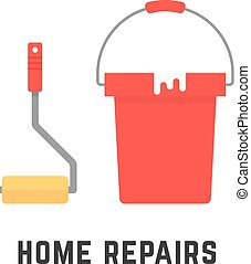 roller and bucket like home repairs