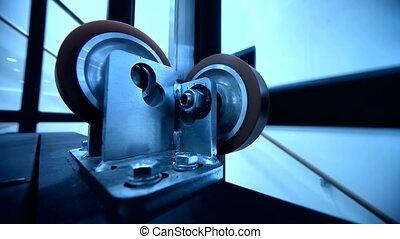 Roller at Lift - Elevator Shaft