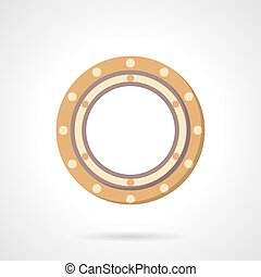 Roller bearing vector icon flat style