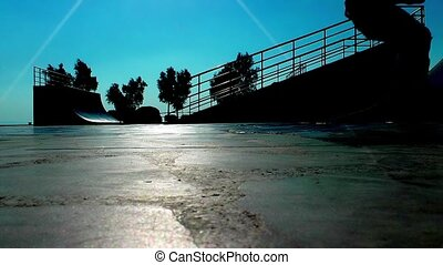 Roller Blade Skating Sport Outdoor Concept