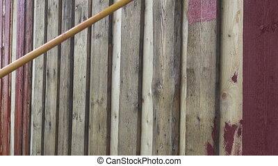roller brush paint wooden wall