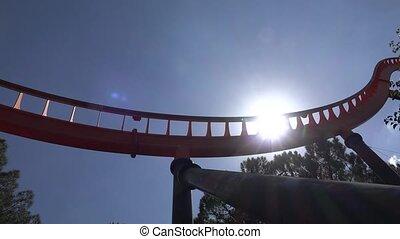 Roller Coaster At Amusement Park