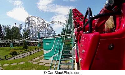 Roller coaster. Attraction.