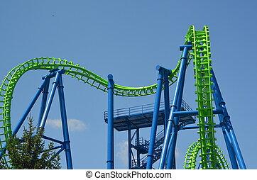 Roller Coaster - Colorful roller coaster tracks