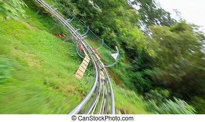 roller coaster downhill ride