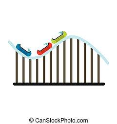 Roller coaster icon