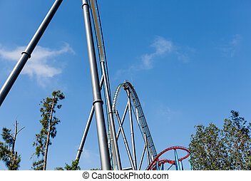 Roller Coaster in Amusement Entartainment Theme Park