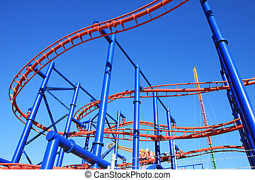 Roller-coaster in Coney Island