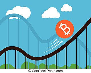 roller-coaster, muenze, bitcoin