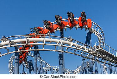 Roller coaster ride in Luna Park. - Roller coaster ride ...