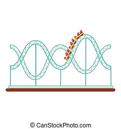 Roller coaster, rollercoaster amusement park ride