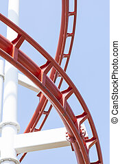 Roller coaster steel structure trac