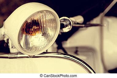 roller, első lámpa, öreg