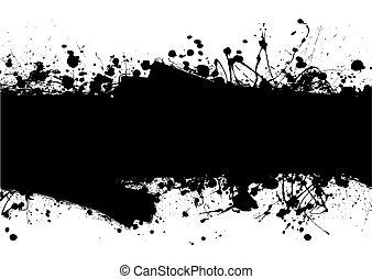 roller ink splat