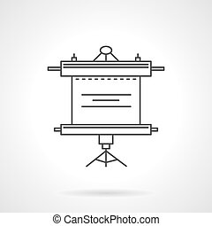 Roller screen vector icon line style
