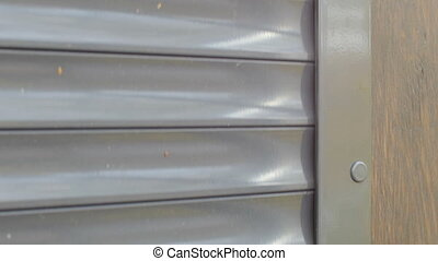 roller shutter closed close up, safety concept