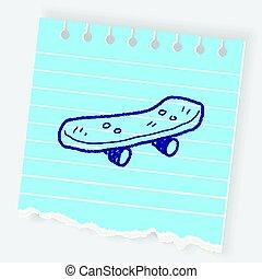 Roller skate doodle