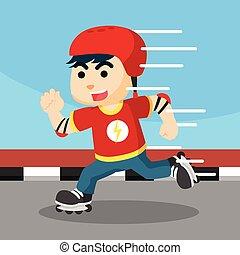 roller skater boy illustration design