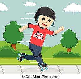 roller skater in park
