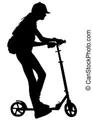 Roller skates girl