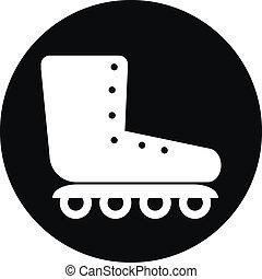 Roller skates icon button