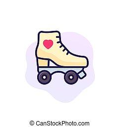Roller skates icon, vector art