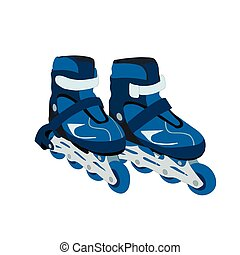 Roller skates isolated on white background. Vector...