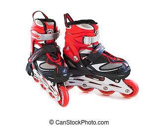 roller skates on a white background