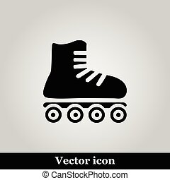 Roller skates sign icon