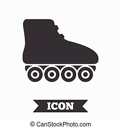 Roller skates sign icon. Rollerblades symbol. Graphic design...
