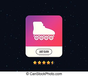 Roller skates sign icon. Rollerblades symbol. Vector -...
