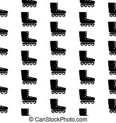 Roller skates symbol seamless pattern