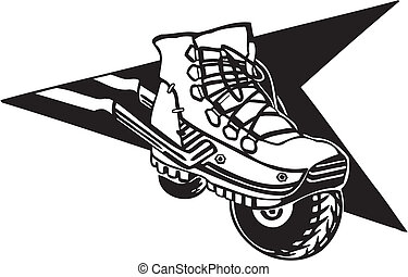 Roller skates - Vector illustration.
